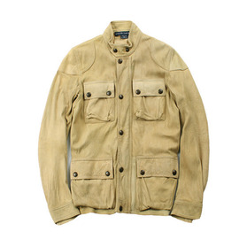 Ralph Lauren deerskin suede leather motorcycle jacket