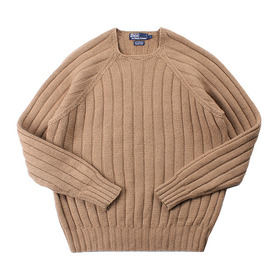 POLO 'Camelhair+LambsWool' Handknit Sweater
