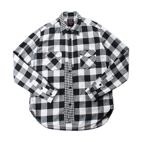 68&BROTHERS Patchwork Flannel Shirt