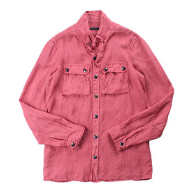 MESSAGERIE 'Pure Linen' Overshirt Jacket