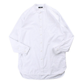 SPINNS Banded Collar Long Shirt