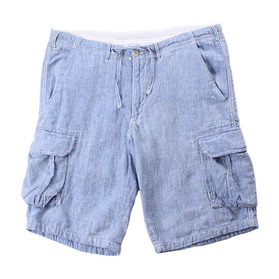 BEAMS Pure Linen Cargo Shorts