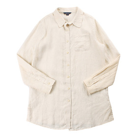 LAND'S END Pure Linen Long Shirt