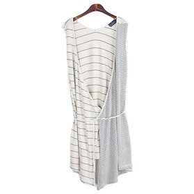 Le Minor 'Linen Knit' Robe Dress