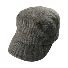 'BRITISH WOOL' Tweed Cap